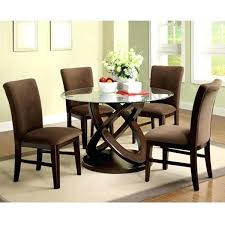 round dining table for 6 contemporary charming brown round modern glass round dining table set for