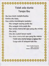 Kumpulan Contoh Puisi Anak Sd Kelas 4 Contoh Kumpulan Puisi Baru Terbaik