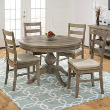 slater mill pine reclaimed pine round to oval 5 piece dining set 941 66b 941 66t 4x941 538kd cushion 941