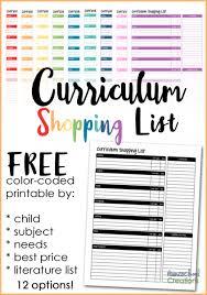Homeschool Curriculum Shopping List