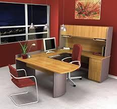 u shaped office desk. Modren Desk Bestar Furniture 5241268 Executive UShaped Workstation With Three Drawers  Two Locks With U Shaped Office Desk