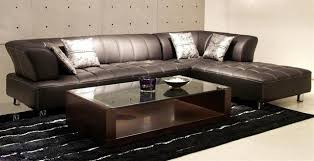 modern leather couch. Leather Modern Sectional Couch R