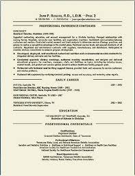 environmental executive resume sample clinical dietitian resume