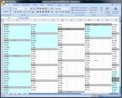 Excel Kalender Jahreskalender Für Excel Download