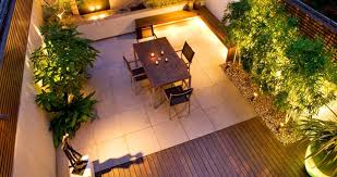 rooftop lighting. beautiful rooftop gardening ideas terrace lighting shades and dining set also with wooden bench n