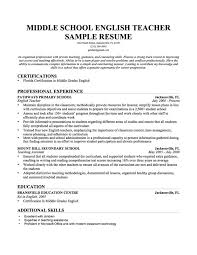 Sample Career Objective For Teachers Resume English Teachers Resume TGAM COVER LETTER 67