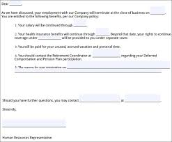 Sample Employment Termination Letter 6 Free Documents Download In