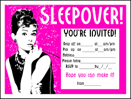 sleepover template sleepover at you cute invitations for sleepover party templates