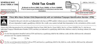 Schedule 8812 What Is Irs Form Schedule 8812 Filing