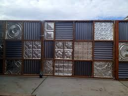 Interior Design Install Corrugated Metal Privacy Fence Peiranos
