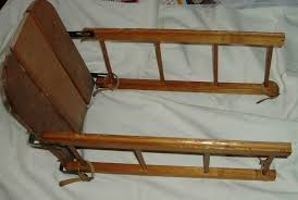 details about wooden child seat for snow sled lightning guider
