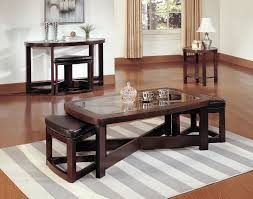 Coffee Table With Stools Visual Hunt