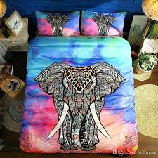 elephant twin bedding set colorful elephant reactive printing bedding sets twin full queen king size bedroom decoration duvet cover pillow shams animal full