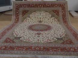 10 x 14 hand knotted brand new wool and silk sino persian tabriz oriental area rug 12980762 goodluck rugs