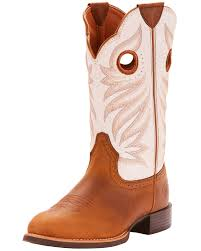 zoomed image ariat women s round up full grain leather western boots round toe tan