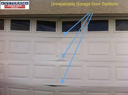 unrepairable section garage door