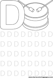 Small Picture Letter D preschool coloring pages