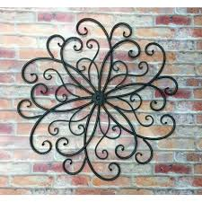 outdoor wall art metal scroll