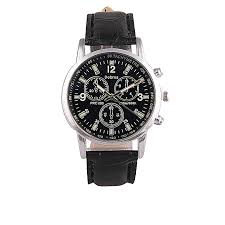 generic quartz men s fashion leather watches black