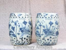 white porcelain garden seats stools nanking