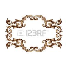Design Decorative Gorgeous Baroque Vector Set Of Vintage Elements For Design Decorative