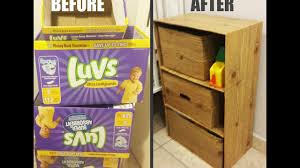 Decorating Cardboard Boxes DIY Dresser w Cardboard Boxes YouTube 12