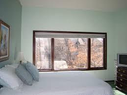Wide Window Treatments interiorbedroomwidebrownstainedteakwoodframeglasswindow 5798 by guidejewelry.us