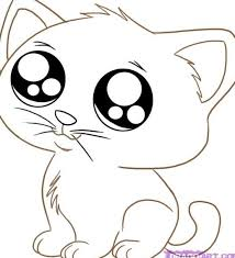 Small Picture Cute Kitten Coloring Pages Free Printable FunyColoring