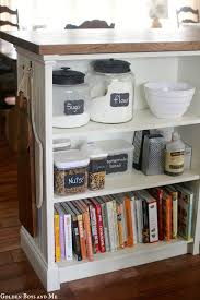 DIY Kitchen Cabinet Island {IKEA hack from a bookshelf}