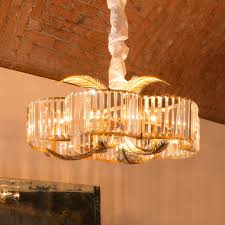 exclusive gold leaf italian crystal chandelier