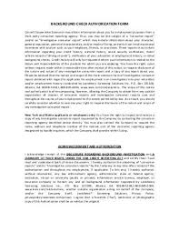 Background Check Authorization Form Custom Background Check Consent Statement