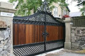 wooden and iron gate designs