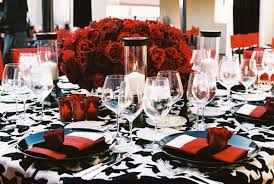 red and silver table decorations. Red And Silver Table Decorations For Modern White Black Wedding