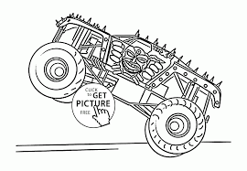 Monster Truck Max D Coloring Page For Kids Transportation Coloring
