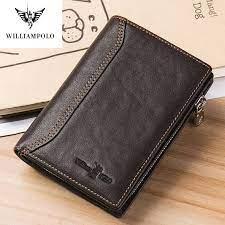 williampolo men wallet genuine leather