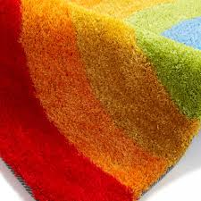 hong kong hk6083 kids rainbow multicoloured children rug by think rugs