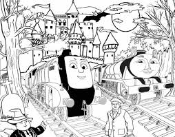 Spencer And Gordon Halloween Thomas The Train Coloring Pages To