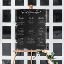 Wedding Seating Chart Acrylic Painted Wedding Seating Chart