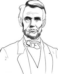 Small Picture A Sketch Drawing of Abraham Lincoln Coloring Page facebook