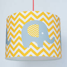 chevron elephant nursery paper lampshade by koko kids