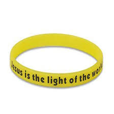 Jesus Is The Light Wristbands Jesus Is The Light Of The World Glow In Dark Yellow Neon