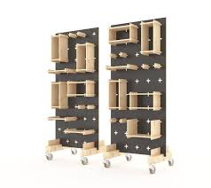Plywood Display Stand Display Stand Pegboard Plywood Wall System consists of 2