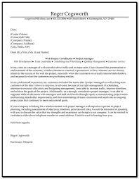 Project Planner Cover Letter Examples Cover Letter Resume