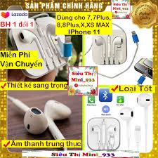 ⭐Tai nghe IPhone 7 7 Plus Tai nghe IPhone 8 8 Plus Tai nghe IPhone X XR XS  MAX Tai nghe IPhone 11 Mẫu Mới 2020 Có Dây Kết Nối Bluetooth: Mua