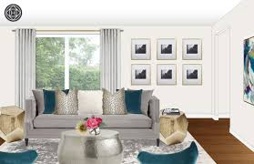 Create Living Room Designs Online Contemporary Glam Living Room Design By Havenly Interior