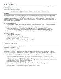 Pharmaceutical Sales Resume Medical Sales E Field Mesmerizing Gorgeous Pharmaceutical Sales Resume