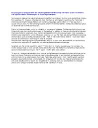 small essay about television short essay on impact of television on students or children