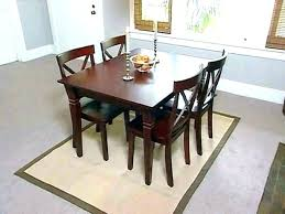 jute rug dining room under table round area j