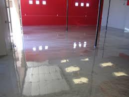 metallic epoxy floor in basement