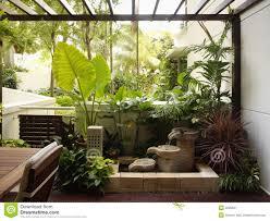 House Interior Garden Design Interior Design Garden Stock Image Image Of Wall